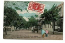 Sénégal - Dakar - Boulevard National (animation) Circulé 1909, Colorisé - Sénégal