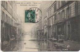 92 PUTEAUX Crue De La Seine Janvier 1910  Rue Godefroy - Puteaux