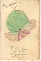 SAINTE CATHERINE BONNET VERT DENTELLE NOEUDS ROSES - Saint-Catherine's Day
