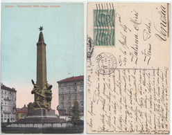 Milano - Monumento Delle Cinque Giornate, 1914 (inviata A Fatima Miris) - Milano (Milan)
