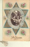 SAINTE CATHERINE FLEURS MEDAILLON ARTICULE - CARTE DOUBLE - Saint-Catherine's Day
