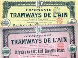 2 X Compagnie Des Tramways De L'Ain S. A. - Chemin De Fer & Tramway