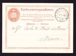 1872 5 Rp Karte Mit Sauberem Stempel St. Bernhardin. - Entiers Postaux