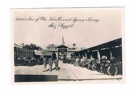 Egypt Suez Interior Vieuw Of The Velox Tourist Agency 's Garage Suez Very Rare Card - Suez
