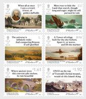 Isle Of Man 2020 - William Wordsworth 1770-1820 - Itinerary Poems Of 1833 Stamp Set Mnh - Isla De Man