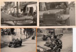 PHILIPPEVILLE  - ALGERIE - PARACHUTISTES - PHOTOS ORIGINALES  - Parachutistes  ECHARDT Raymond Et Quelques Autres Noms - Guerre, Militaire