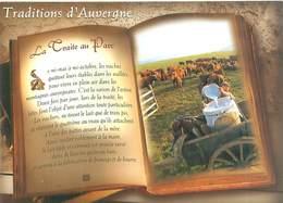 Cpsm -    Traditions D 'Auvergne -  La Traite Au Parc  ,   Livre                  AX1115 - Granja
