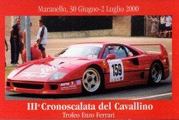 RACING CARS - AUTOVETTURA DA CORSA - FERRARI - MARANELLO -CRONOSCALATA DEL CAVALLINO 2000 - N 042 - Automovilismo