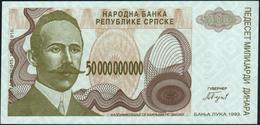 BOSNIA & HERZEGOVINA - 50 Billion Dinara 1993 {Banja Luka} {Replacement} UNC P.160 R - Bosnia And Herzegovina