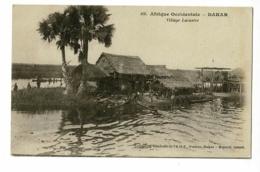 Dakar - Village Lacustre (animation) Circulé 1931, Sous Enveloppe - Senegal