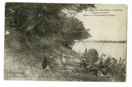 Dakar - Voyage En Rivière - Halte Et Préparation Du Repas (animation) Circulé 1931, Sous Enveloppe - Senegal