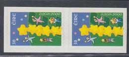 IRLANDA 2000 EUROPA  AUTOADESIVO IN COPPIA DA LIBRETTO UNIFICATO N.1237 MNH - Unused Stamps