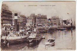 50. CHERBOURG . L'AVANT PORT ET LES QUAIS . REMORQUEURS . BATEAUX  Editeur COLLECTION F. C. - Cherbourg