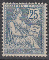 FRANCE   YVERT N°  127 - TYPE MOUCHON - BON CENTRAGE - NEUF X - COTE: 100 Euros (1021) - 1900-02 Mouchon