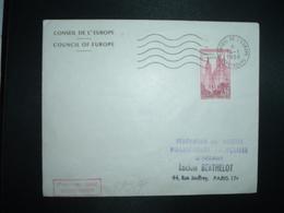 LETTRE TP ROUEN 35F Surc. CONSEIL DE L'EUROPE OBL.MEC.14-1 1958 CONSEIL DE L'EUROPE STRASBOUR (67) FDC - Lettres & Documents