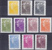 FRANCE  YVERT TIMBRE ADHESIFS N° 208/218 (SAUF 211) - NEUF XX (11182) - France