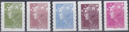 FRANCE  YVERT TIMBRE ADHESIFS N° 286/290 - NEUF XX (11190) - France