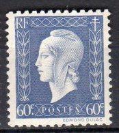 MARIANNE DE DULAC 1945 -   60c Bleu-gris - N° 686** - 1944-45 Marianne De Dulac