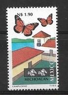 MEXICO 1993 BUTTERFLIES  MNH - Schmetterlinge