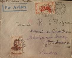 2334 - COLONIES FR. - N°308 + 316 Sur ✉️ - TAMATAVE (MADAGASCAR) 4 AOÛT 1949 à BORDEAUX Puis MIMIZAN - Madagascar (1889-1960)