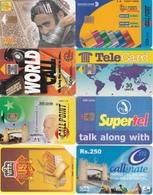 8 Télécartes PAKISTAN Lot3 - Pakistan