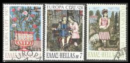 GREECE- GRECE  - HELLAS- Europa CEPT  1975:  Compl. Set Used - Grecia
