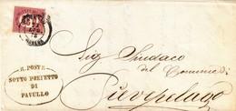 Francobolli Servizio Di Stato Cent. 20  - Piego Da Pavullo A Pievelago - 1861-78 Victor Emmanuel II
