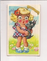 Carte Postales Système Yeux Mobiles -  Illustration NIKO  -  Bonne Fête -  FILLETTE Et Son Chien - Dreh- Und Zugkarten