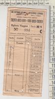 Biglietto Ticket Buillet Soc. Automobilistica Atesina Leonardi Trento  Arco  Riva - Europa