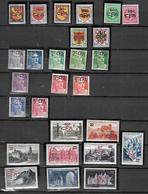 REUNION 1949 - 1952 CAT YT N°  281  à   306  N**  MNH (  Absents  N° 289 Et N° 301 ) Cote 264 E - Ungebraucht