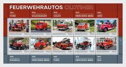 Liechtenstein 2020 - Oldtimer Fire Engines - Collection Sheet Mnh - Liechtenstein