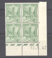 Tunisie  :  Yv  207  **    Coin Daté Du 12-4-42 - Tunisie (1888-1955)