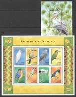 G048 SIERRA LEONE FAUNA BIRDS OF AFRICA 1KB+1BL MNH - Oiseaux