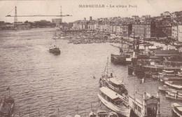 MARSEILLE - BOUCHES DU RHÔNE  -  (13)  -  PEU COURANTE CPA ANIMÉE 1930. - Vieux Port, Saint Victor, Le Panier