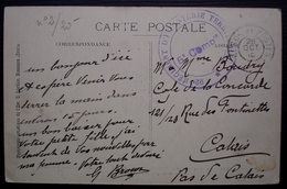 92eme Régiment D'infanterie Territorial, 5eme Compagnie, Sur Carte De La Haute Saône Pour Calais - WW I