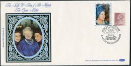 1985 GB Queen Mother, 85th Birthday, Benham Silk Covers (2). Royalty Hitchin, Glamis Castle - 1952-.... (Elizabeth II)