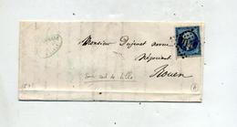 Lettre Cachet Losange 2046 Sur Napoleon + Paris - Postmark Collection (Covers)