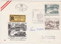 RECO FDC 1964 - Mi Mi 1162+1157 (1) : Weltpostkongreß UPU In Wien , SST Wien - 1961-70 Storia Postale