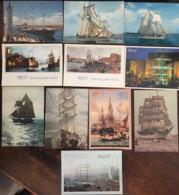 29 CPM, Voiliers, France - Bretagne, Méditerranée ,Pologne, Russie, URSS, USA, (20 Non écrites) - Voiliers