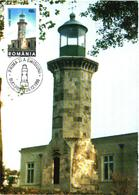 Romania:Maxi Card, Genovez Lighthouse, 1998 - Fari