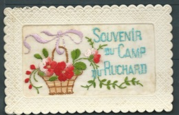 Carte Brodée Souvenir Du Camp Du Ruchard    Maca 1035 - Brodées