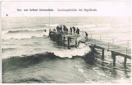 AK Swinemünde, Landungsbrücke Der Segelboote 1907 - Pommern