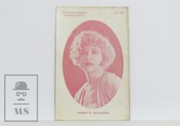 Original 1920s Cinema / Movie Actress Postcard - Nº 141, Anna Q. Nilsson - Acteurs