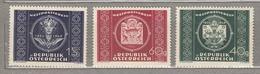 AUSTRIA / OSTERREICH 1949 Mi 943 - 945 MNH Postfrisch (**) #18476 - 1945-.... 2ème République