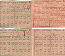 METZ-SABLON - MOSELLE - (57)  - 4 CARTES DE LAIT ENTIER OU STANDARD - 1948. - Documents Historiques