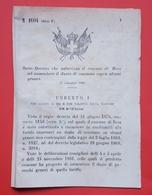 Decreto Regno Italia Autorizzazione Bosa Aumentare Dazio Di Consumo Generi 1883 - Vieux Papiers