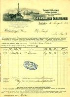 """CLEVE 1912 Rechnung Besonders Deko """" Gebr.Reintjes Dampfkäserei Edamer Holländer """" - Food"""