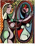 CPM - PABLO PICASSO - FEMME Devant LA GLACE - Edition Allemande - Paintings