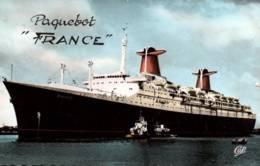 """CPSM - Cie Gale Transatlantique - PAQUEBOT """"France""""- Edition C.A.P.Paris - Piroscafi"""