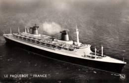 """CPSM - Cie Gale Transatlantique - LE HAVRE - PAQUEBOT """"France""""- Edition Bellevues - Piroscafi"""